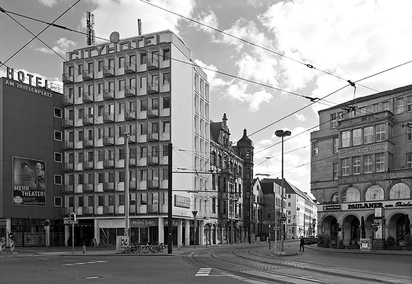 der Thielenplatz in Hannover, mit Blick auf die Prinzenstraße