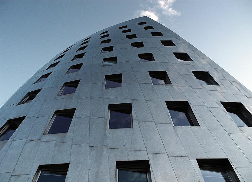 Hochhaus in Hannover, entworfen von Frank O. Gehry